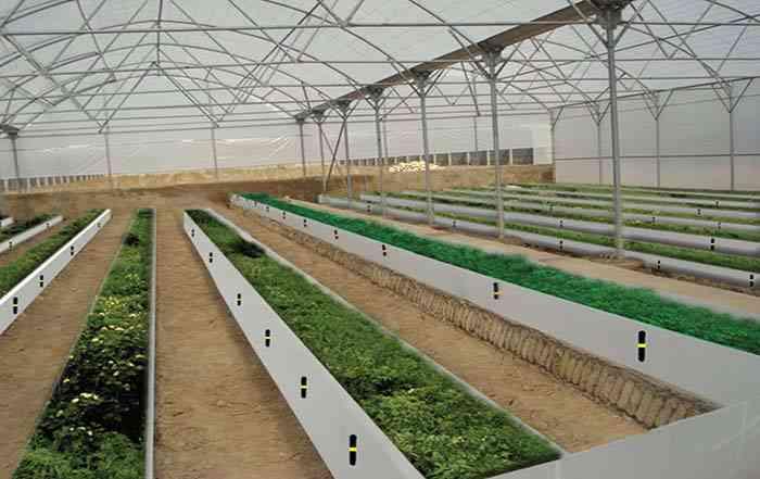 مرحله احداث گلخانه